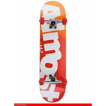 Almost Almost Skateboard Side Pipe FP Red Fade 7.9''