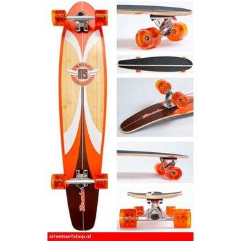 Mindless Mindless kicktail Longboard Marauder orange