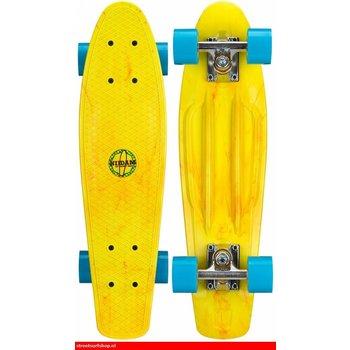Nijdam Nijdam Splash Dye 22.5'' Kunststof Skateboard Geel / Blauw