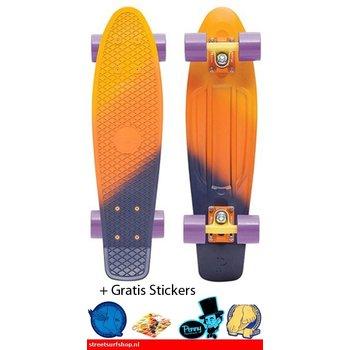 """Penny Penny board 22"""" Dusk Fade Yellow/Orange/Purple"""