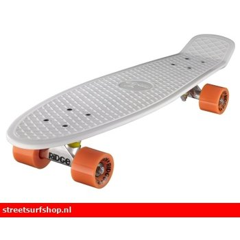"Ridge Ridge Retro board 27"" White deck with orange wheels"