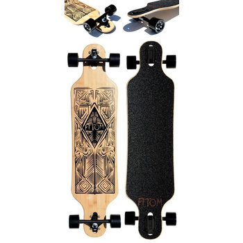 "Atom Atom drop through Tiki Bamboo 40"" Longboard"