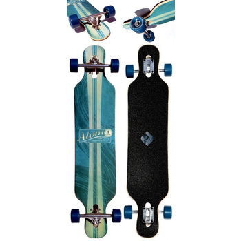 "Atom Atom Drop Through Artisan blue 39"" Longboard"