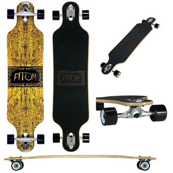 "Atom Atom Drop Through 40"" Longboard Tiki Banner"