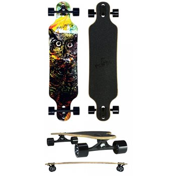 Atom Atom 40 inch Owl drop through  longboard