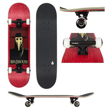 Birdhouse Birdhouse Stage 3 Plague Doctor Red Skateboard 8.0