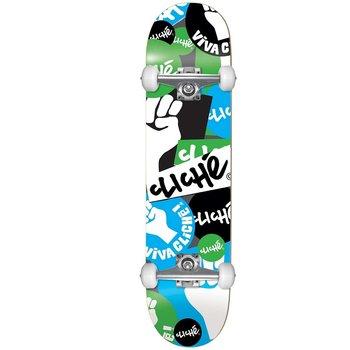 Cliche Cliche Patch First Skateboard 7.75 Blue/green
