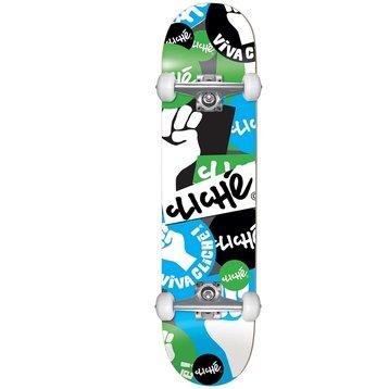 Cliche Cliche Patch First Skateboard 7.75 Blau / Grün