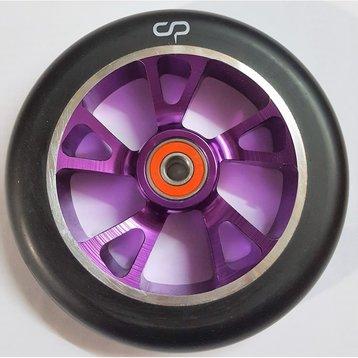 Crisp Crisp Drilled Alloy 125mm Wheel Purple