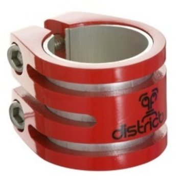 District District Double lightweight clamp red