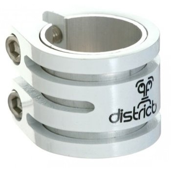District District Double lightweight clamp white