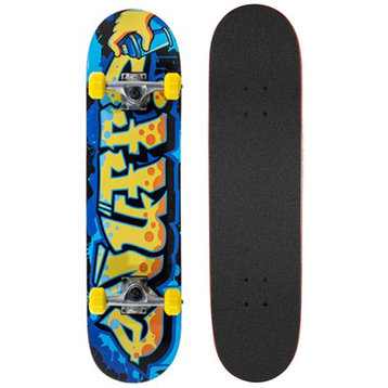"Enuff Enuff Graffiti 31"" skateboard Blue / Yellow"