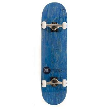 """Enuff Enuff Logo Stain Skateboard 7.75"""" Blue"""