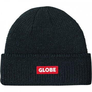 Globe Globe Bar Beanie Black Redlogo