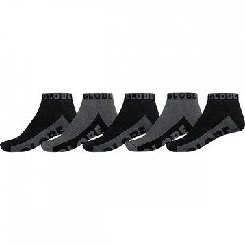 Globe Globe Black/Grey Ankle Sock 5pack