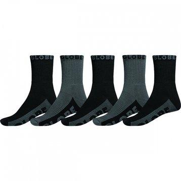 Globe Globe Black/Grey Sock Sock 5pack