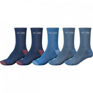 Globe Globe Blues Crew Sock 5PK