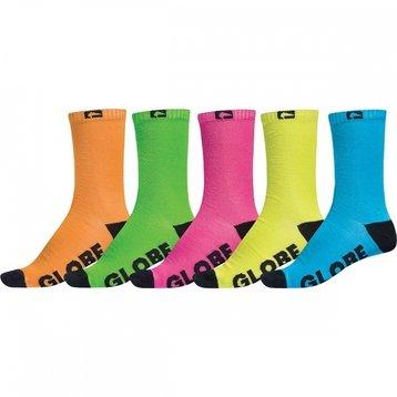 Globe Globe Neon Sock Sock 5pack