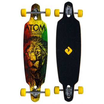 "Atom Atom drop through longboard 36"" Rasta"