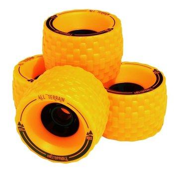 Atom MBS all terrain wheels 100mm oranje