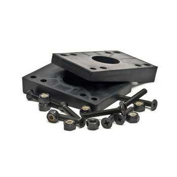 Mindless 2 angled rubberen risers met 8 boutjes