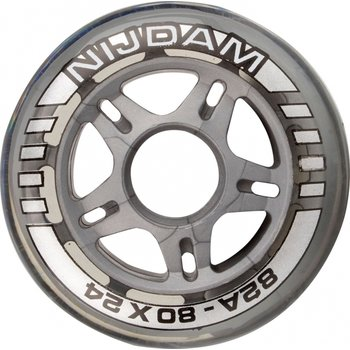 Nijdam Set 4 Wielen Voor Inlineskates 64 x 24 mm 82A