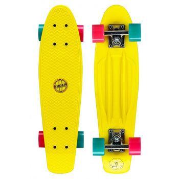 Nijdam Nijdam 22.5'' Flipgrip Retro Skateboard Geel/Blauw/Fuchsia