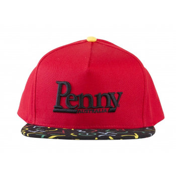 Penny Penny Snapback Cap Red Black