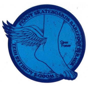 Penny Penny Aufkleber Barfuß Blau