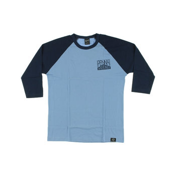 Penny Penny Raglan 3/4 Sleeve Navy Blue / Chambray Grey Tee Shirt