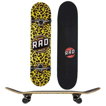 Rad Rad Dude Crew leopard 7.75 Skateboard