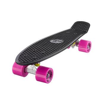 "Ridge Ridge Retro board 22"" black met pink wheels"