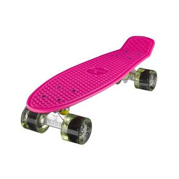 "Ridge Ridge Retro board 22"" Pink met clear green wheels"