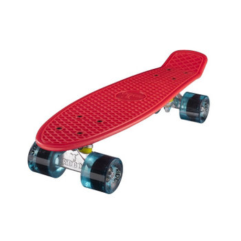 "Ridge Ridge Retro board 22"" Red with clear blue wheels"