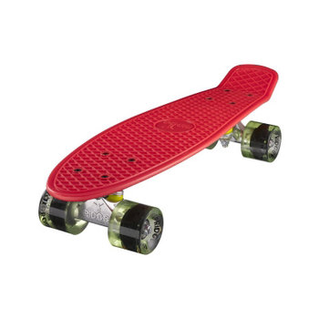 "Ridge Ridge Retro board 22"" Red with clear green wheels"