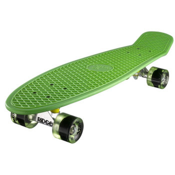 "Ridge Ridge Retro board 27"" Green met clear green wheels"