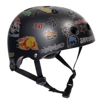 SFR SFR schwarzen Helm mit Aufklebern