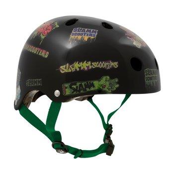 Slamm Slamm helm zwart met stickers (L-XL)
