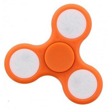 Fidget Fidget Spinner LED oranje
