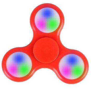 Fidget Fidget Spinner LED rood