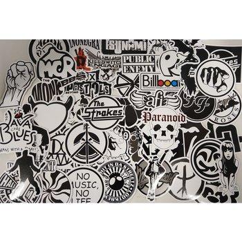 Stickerset black en white
