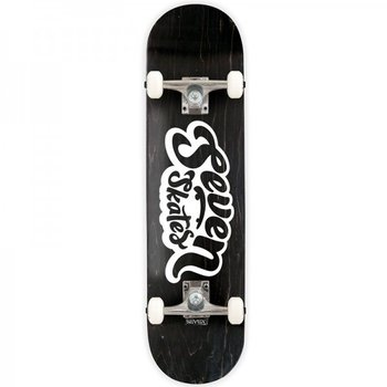 Seven Seven Basic Logo Charcoal Skateboard 7.8