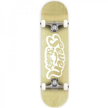 Seven Seven Basic Logo Natural Stain Skateboard 7.8
