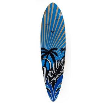 Mindless Voltage Longboard Deck Stubby Blue