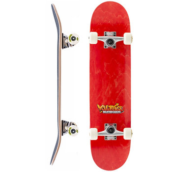 Voltage Voltage Graffiti Logo Red Skateboard