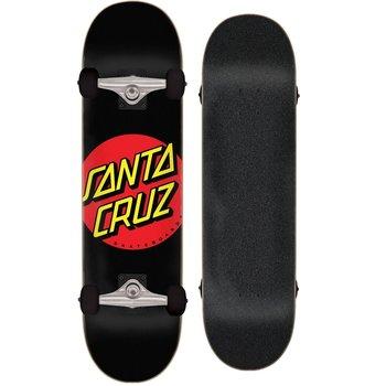 Santa Cruz Santa Cruz Classic Red Dot 8.0 Schwarzes Skateboard