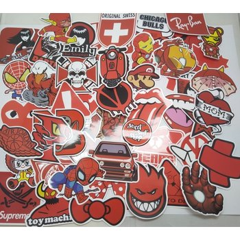 Stickerset Section Red