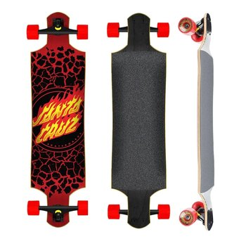 "Santa Cruz Santa Cruz Drop Down 40"" Flame Dot Red"