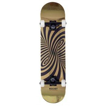 Rocket Skateboards Rocket Skateboard Twisted Foil Gold 7.5