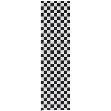 Enuff Enuff Skateboard Grifftape 33 x 9 Inch checkered white